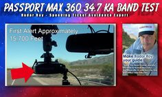 Passport Max 360 34.7 Ka Band Radar Detector Test