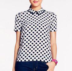 Very cute high-collar Hearts blouse! <3