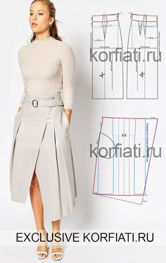 Выкройка расклешенной юбки. Геометричная и очень нестандартная расклешенная юбка со складками не только хит сезона – она может стать хитом вашего гардероба.
