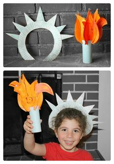 Cute Statue of Liberty #Craft for #kids - Perfect for #4thofJuly