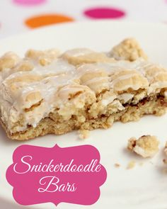 Snickerdoodle Bars - yes, please!!