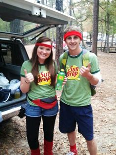 Citrus Soul Mates.  Halloween couple costume idea.