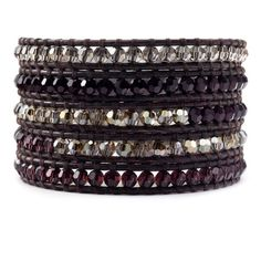 Burgundy Crystal Wrap Bracelet Chan Luu