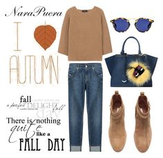 """I love Autumn"" by narminq on Polyvore featuring 7 For All Mankind, A.P.C., H&M and Fendi"