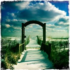 early morning snow in Bethany Beach, Delaware