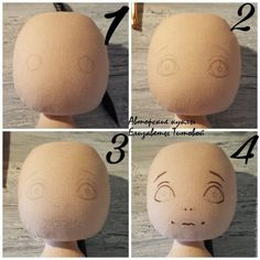 Sewing a Fabric Doll on Your Own – a free tutorial on the topic: Dolls ✓DIY ✓Steps-By-Step ✓With photos Fabric Doll Pattern, Fabric Dolls, Doll Patterns, Doll Face Paint, Doll Painting, Doll Crafts, Diy Doll, Doll Tutorial, Soft Dolls
