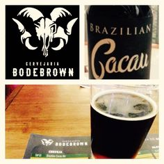 Cerveja Bodebrown Brazilian Cacau Ale, estilo Fruit Beer, produzida por Cervejaria Bodebrown, Brasil. 8% ABV de álcool.