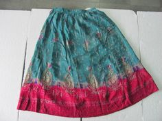 Old Handmade Embroidery Work Indian Women Skirt
