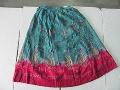 Old Handmade Embroidery Work Indian Women Skirt