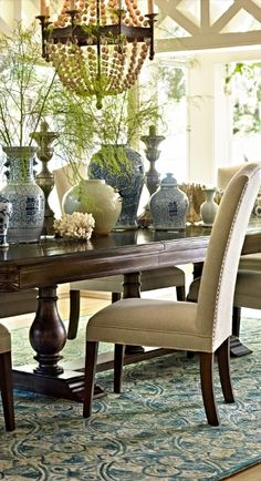 Fit for a simple rustic meal, or a king's feast, the unique 3-pillar Tennyson Trestle Table is built from solid, carved and distressed wood.