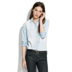 Madewell Perfect Chambray Ex-boyfriend Shirt In Ferrous Wash $69.50 - Buy it here: https://www.lookmazing.com/madewell-perfect-chambray-ex-boyfriend-shirt-in-ferrous-wash/products/5728937?shrid=7_pin