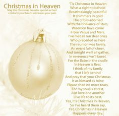 Your first Christmas in Heaven what a sight to behold. Merry Christmas Leslie...I miss you so...
