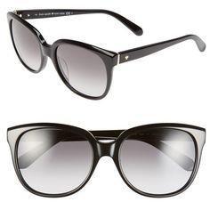 6c9bbaaeaa kate spade new york  bayleigh  55mm sunglasses (580 SAR) ❤ liked on