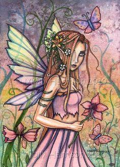 Fairy Art: Amaryllis by Artist Molly Harrison