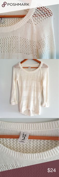 Off white knit sweater Super cute knit sweater Great back to school piece paired with your favorite leggings and boots. Excellent condition Sweaters