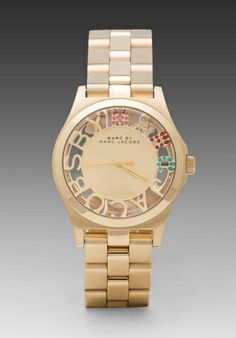 Marc by Marc Jacobs Clearly Crystal Henry Skeleton Glitz in Gold