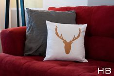 How to make a deer silhouette pillow