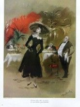 Lila de Nobili 1947 Christian Dior at the Maxim's Restaurant, Nina Ricci, Jeanne Lafaurie, Worth,