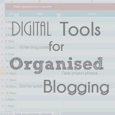 A Typical English Home: Organised Blogging: Digital Tools
