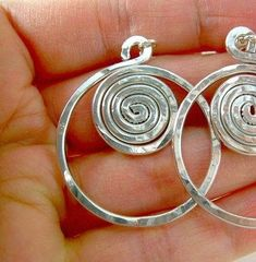 Spiral wire earrings by elizabeth