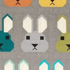 Bunny quilt pattern by Elizabeth Hartman | Oh Fransson
