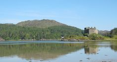 "Tioram castle (pronounced ""Cheerum"") at the entrances to Loch Moidart and Loch Shiel in the highlands of Scotland. Castle Tioram is the traditional seat of Clan MacDonald of Clan Ranald, a branch of Clan Donald."