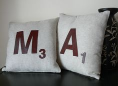 Scrabble Cushions - DIY tutorial