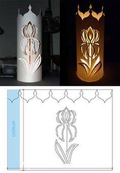 photophore iris Kirigami, Paper Lanterns Party, Paper Cutting, Cut Paper, Diy And Crafts, Paper Crafts, Paper Cut Design, Paper Light, Creation Deco