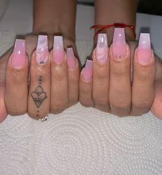 Nail Designs Hot Pink, Pretty Nail Designs, Acrylic Nail Designs, Bad Nails, Aycrlic Nails, Glitter Nails, Cute Acrylic Nails, Cute Nails, Pretty Nails