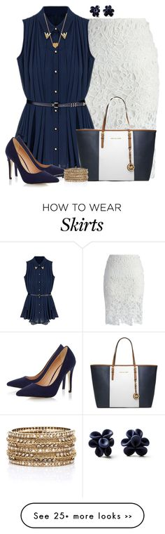 """""""White Lace Skirt"""" by angelysty on Polyvore"""