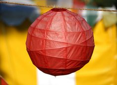 Red Criss Cross Paper Lantern