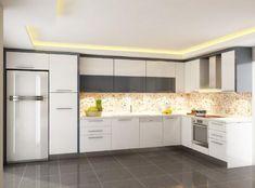 L Mutfak Dekorasyon Fikirleri