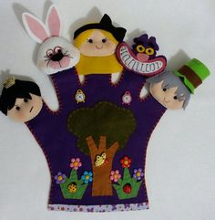 Glove Puppets, Felt Finger Puppets, Shadow Puppets, Puppet Crafts, Felt Crafts, Infant Activities, Activities For Kids, Art Of Charm, Story Sack
