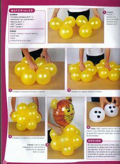 Revista decoración con globos