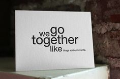 Letterpress cards you can send to your vanilli.