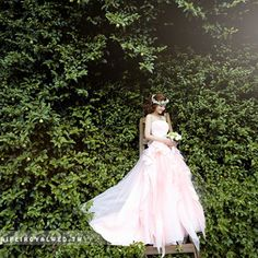 Peach dress - TaipeiRoyalWed.tw 台北蘿亞結婚精品 淡桃色晚禮服