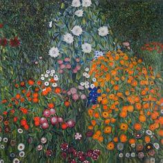 Farm Garden (Flower Garden) - Gustav Klimt Paintings