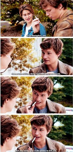 Augustus Waters I love you so much you beautiful one legged cancer infested human.