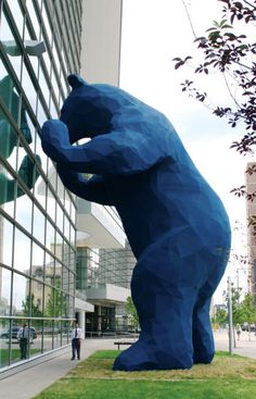 Big Blue Bear at Colorado Convention Center, Denver, Colorado #sculpture