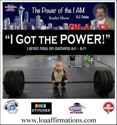 "Discover your Power and Empower your life by learning how to create powerful and extremely effective ""I AM"" affirmations. Plus, learn how to lazier focus your imagination and visualization with video vision boards using today's incredible (and easy to use) computer/digital technology. Guaranteed to turbo charge your attractor factor x's a million!!! http://www.stitcher.com/podcast/laws-of-attraction/the-power-of-the-i-am/episode/34227069?autoplay=true"