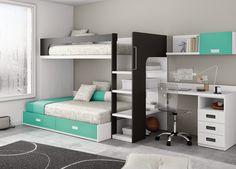 Risultati immagini per literas modernas Kids Bedroom, Bedroom Decor, Bedroom Furniture, Awesome Bedrooms, Dream Rooms, My New Room, Small Rooms, Bed Design, Girl Room