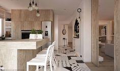 Wzorzysta podłoga w kuchni - Lovingit.pl