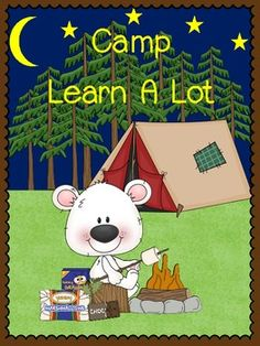 "Camp Learn A Lot - Literacy and Math Centers on TpT.  I was inspired by my own kids' school ""Camp Read A Lot"".  $"
