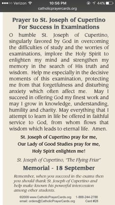 Prayer to St Joseph of Cupertino to pass tests & exams http://www.loaspower.com/which-type-of-thinker-are-you/