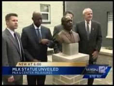 Media Coverage of King Drive Commons IV Grand Opening with Sculpture of Martin Luther King Revealed. Impact Seven celebrates the Grand Opening of King Drive . Project Finance, Martin Luther King, Grand Opening, Public Art, Sculpture Art, Wisconsin, Memories, Statue, History