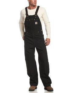 Carhartt Men's Unlined Duck Bib Overall R01,  Black,  28x32 Carhartt,http://www.amazon.com/dp/B000FXSUEK/ref=cm_sw_r_pi_dp_Q2wcsb02ZKR4QC4F