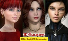 20 Most Beautiful and Stunning 3D Character Designs and Illustrations. Read full article: http://webneel.com/webneel/blog/20-most-beautiful-and-stunning-3d-character-designs-and-illustrations | more http://webneel.com/3d-characters | Follow us www.pinterest.com/webneel