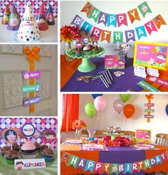 Dora the Explorer Party Printables by 11cupcakes on Etsy, $21.00