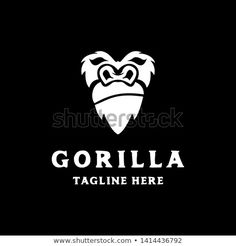 Find Simple Gorilla Head Face Logo Icon stock images in HD and millions of other royalty-free stock photos, illustrations and vectors in the Shutterstock collection. Primate, Animal Logo, Royalty Free Photos, New Pictures, 4x4, Logo Design, Templates, Logos, Simple