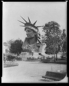 Statue of Liberty's head presented in exhibition in Paris 1878